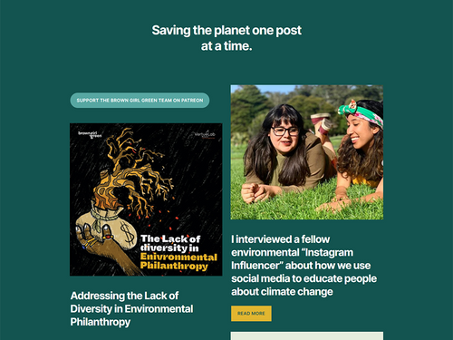 Brown Girl Green's Blog Home Page - Saving the planet one post at a time.