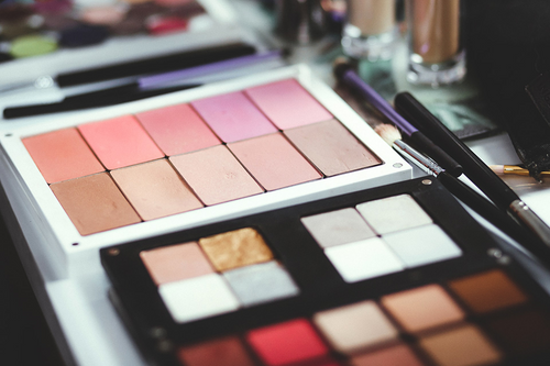 Makeup palettes side by side