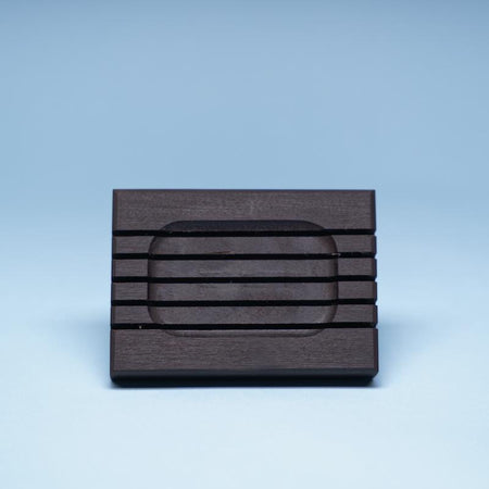 Dark slated Canadian birch soap dish from Etee