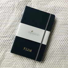Leather notebook in navy | Meminio Memory Cases