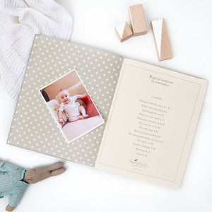 The Story of You, a Baby Memory Book in Grey