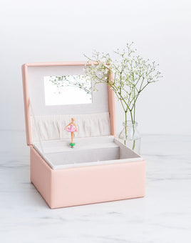 Musical Jewellery Box in Blush Pink