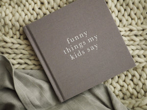 Funny Things My Kids Say in grey | Meminio Memory Cases