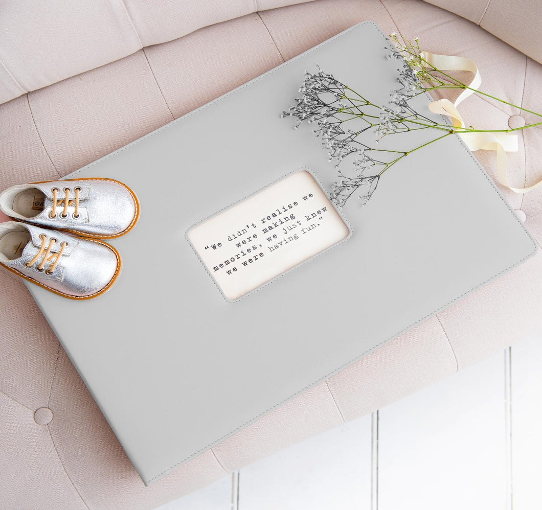 Memories Folder in Grey (Pre Order) | Meminio Memory Cases