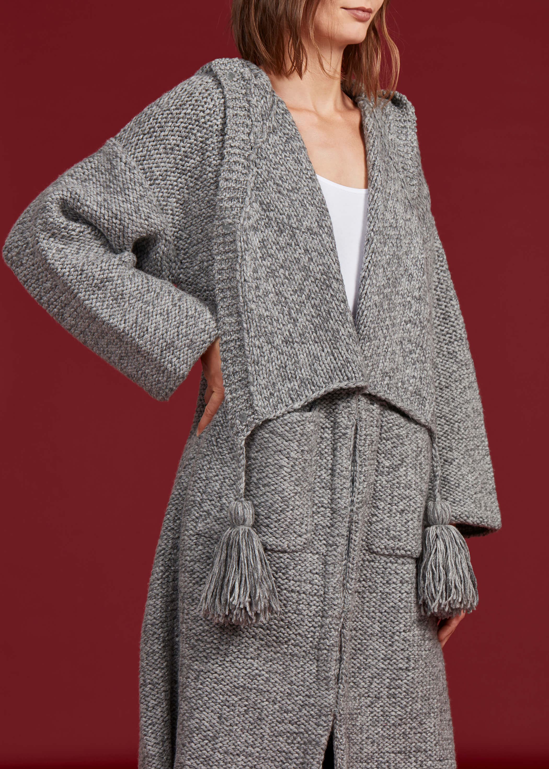 Anderson Sweater Coat, Steel Grey - Jody Tjan