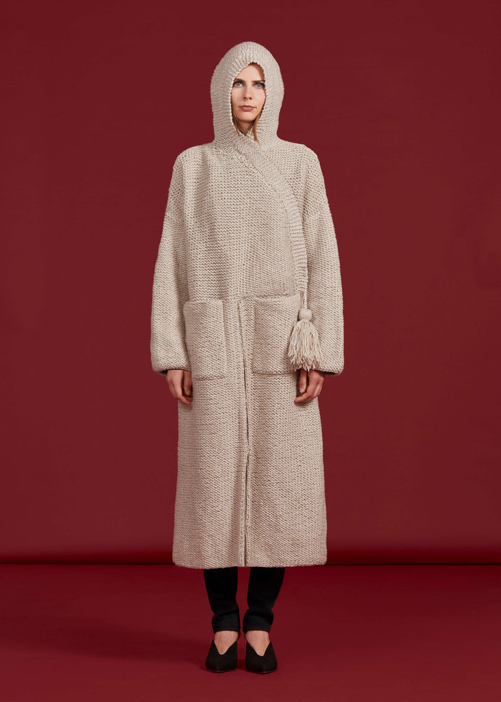 Anderson Sweater Coat, Oatmeal - Jody Tjan