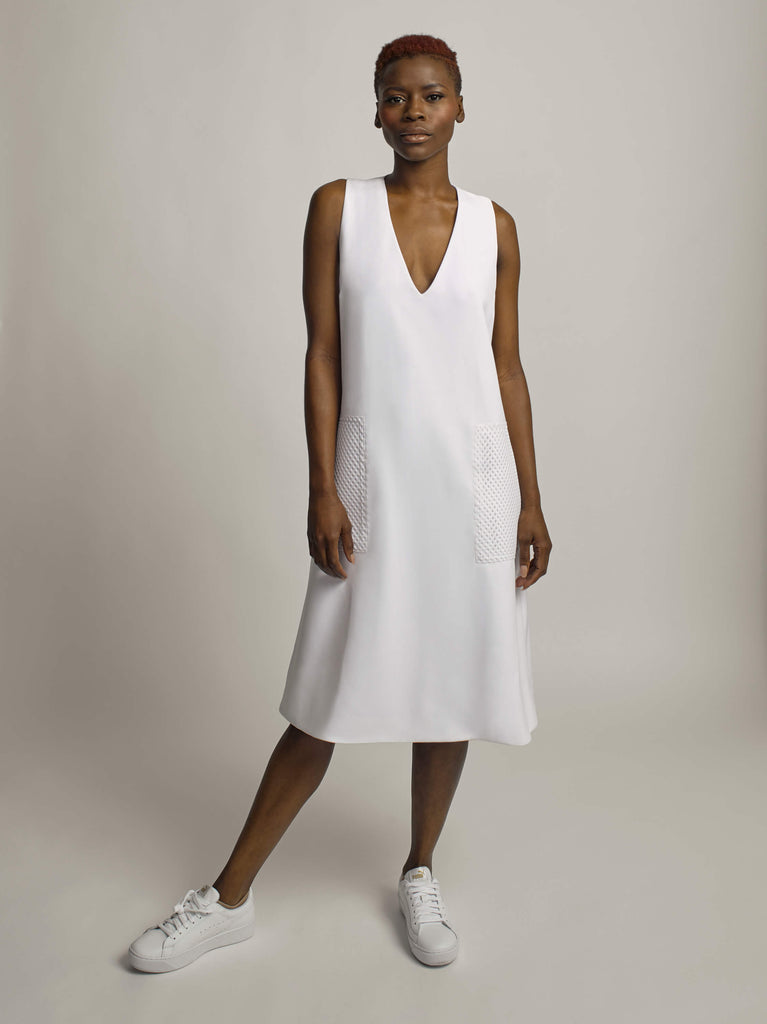 Elemental Dress, Optic White - Jody Tjan