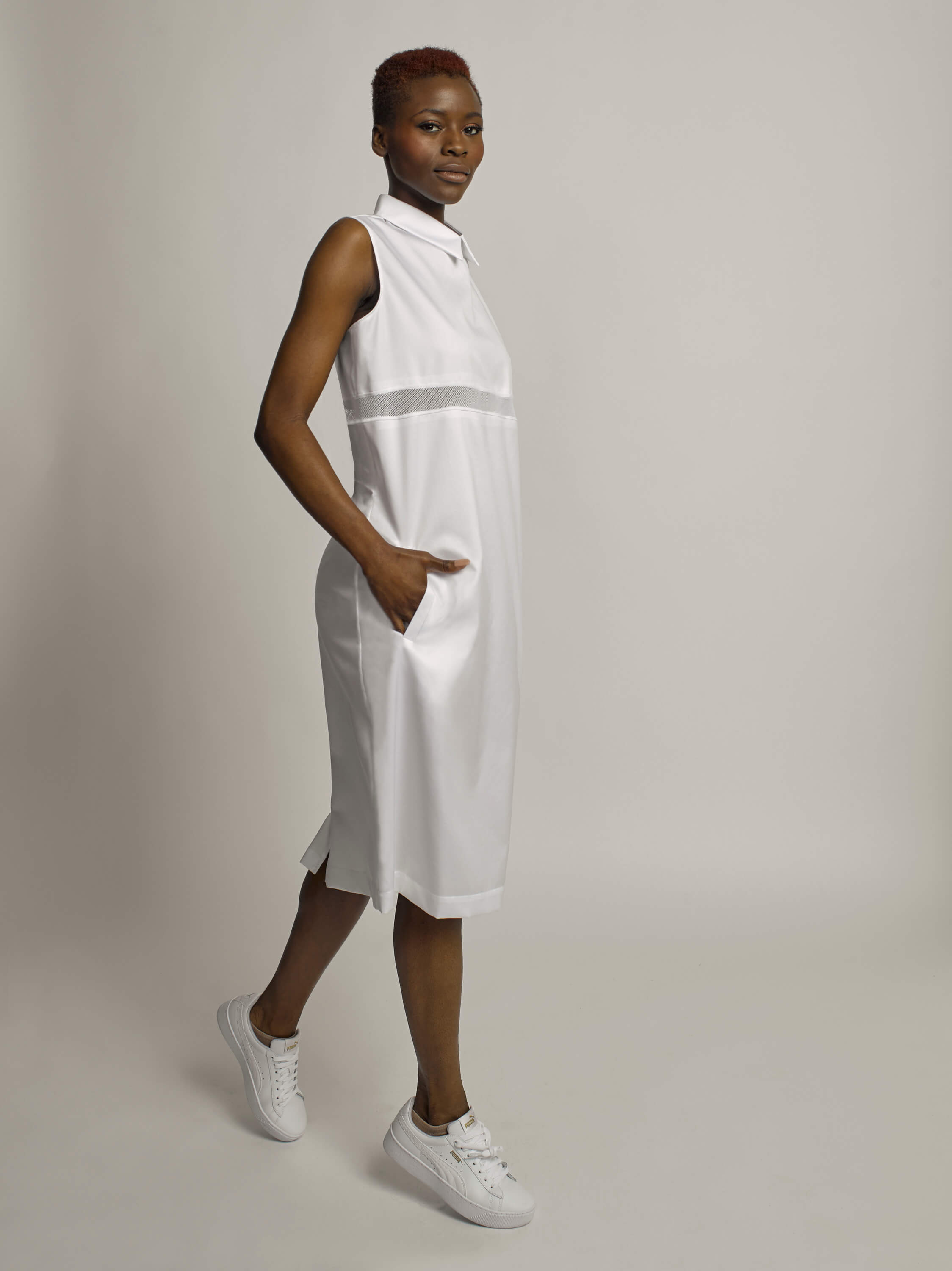 Austere Dress, Optic White - Jody Tjan