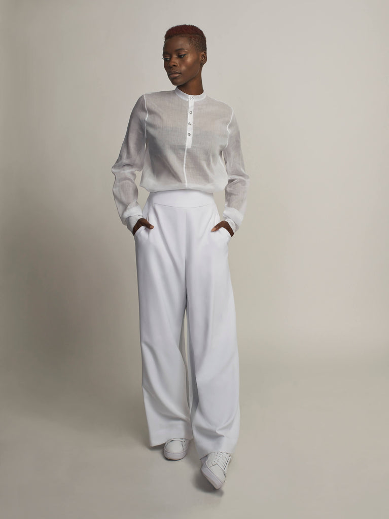 Lucent Blouse, White - Jody Tjan