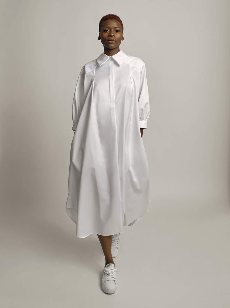 Pedantic Shirtdress, Optic White - Jody Tjan