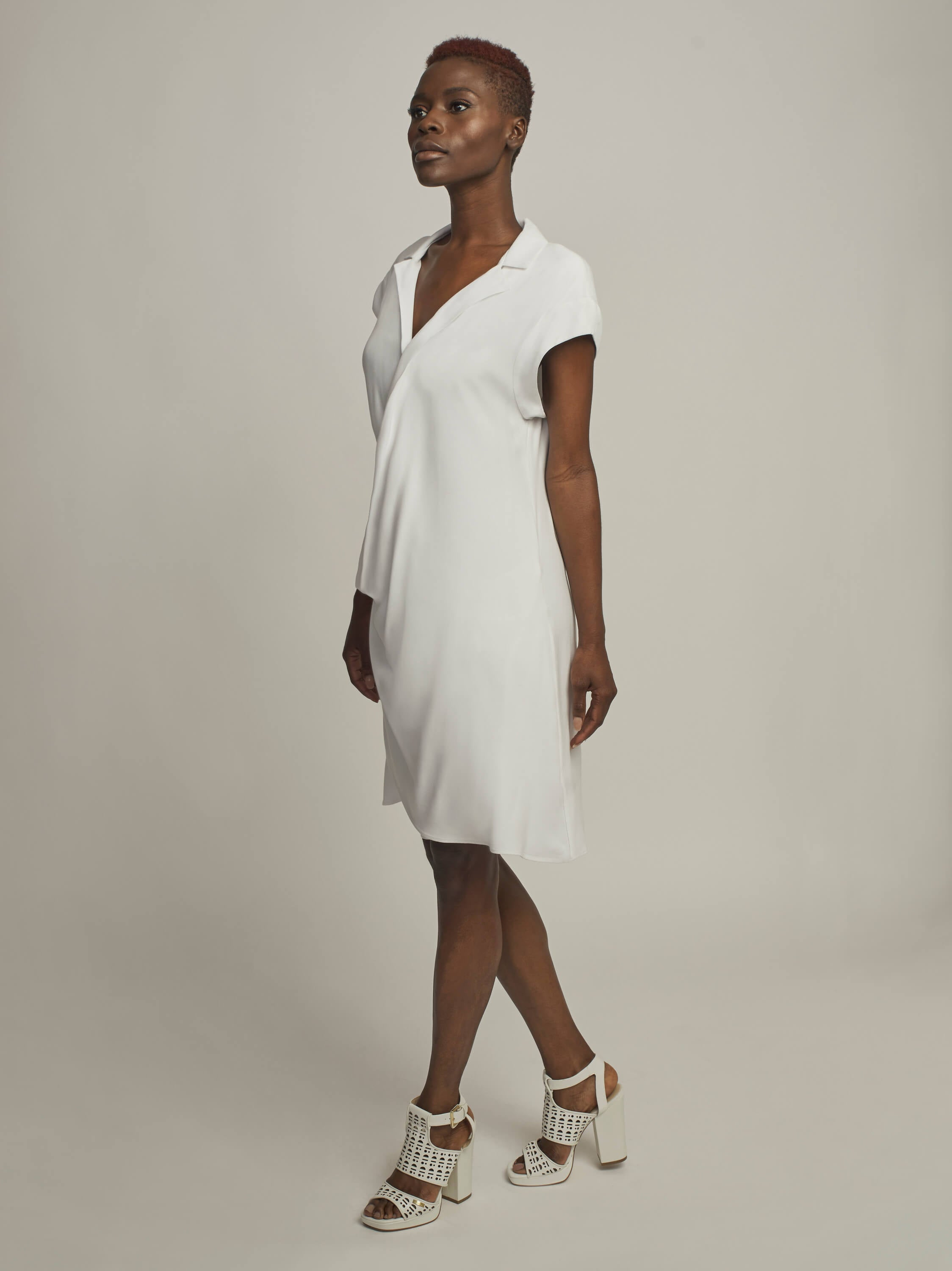 Sinuous Dress, Off White - Jody Tjan