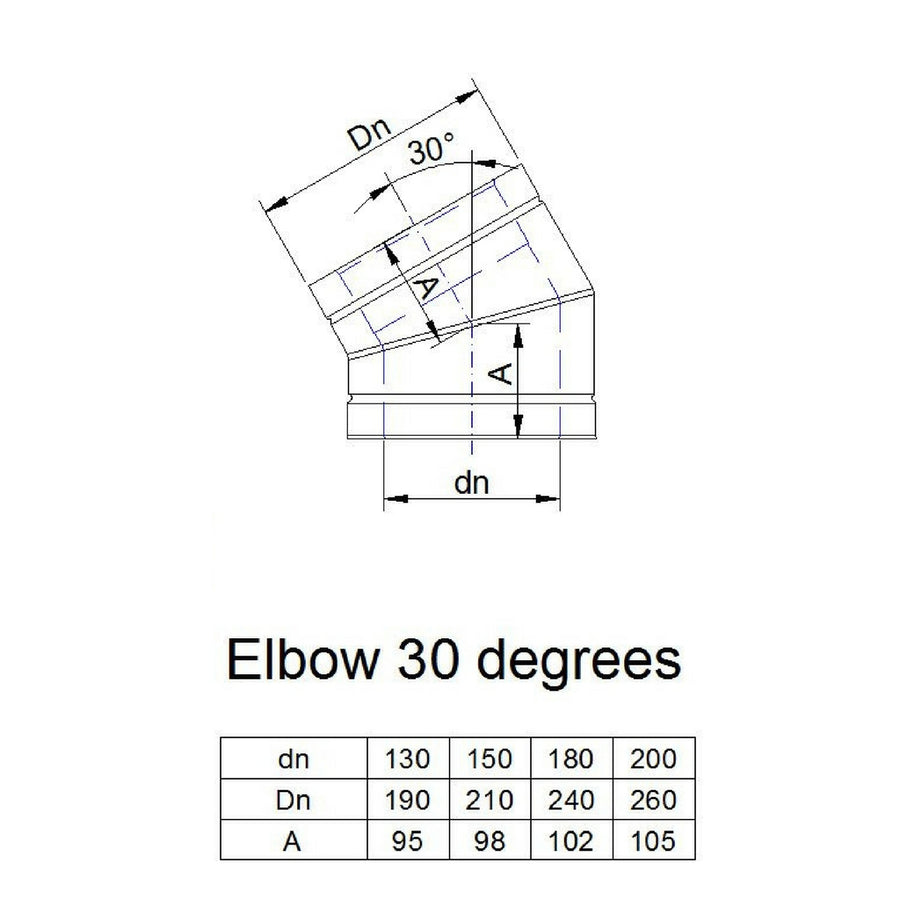 30 degree elbow