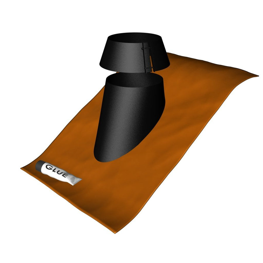 "NEW! Duraflue Flash Roof Flashing 5"" & storm collar"