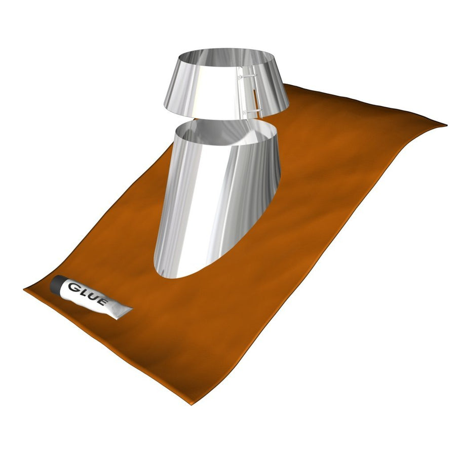 "NEW! Duraflue Flash Roof Flashing 6"" & storm collar"
