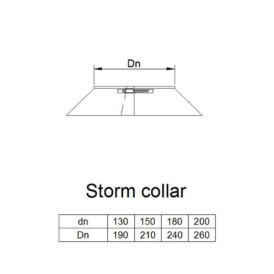 Storm collar (not reqd. on flashings with rubber type seal)