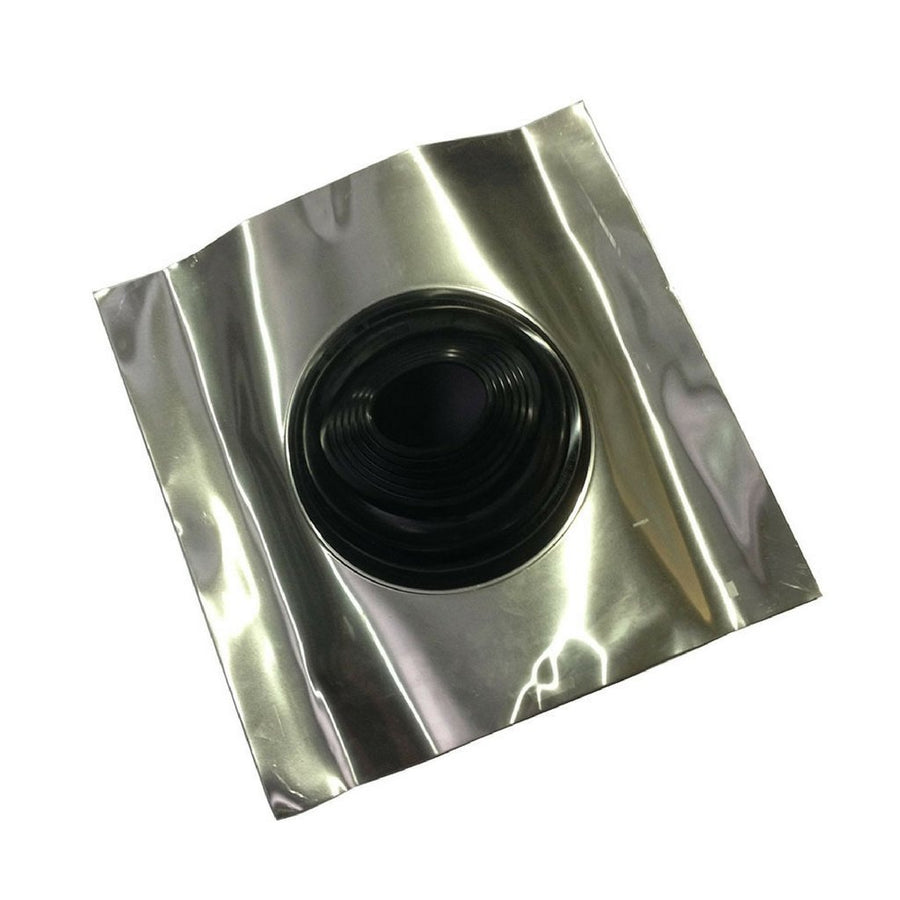 0-45 degree rubber/aluminium flashing (recommended)