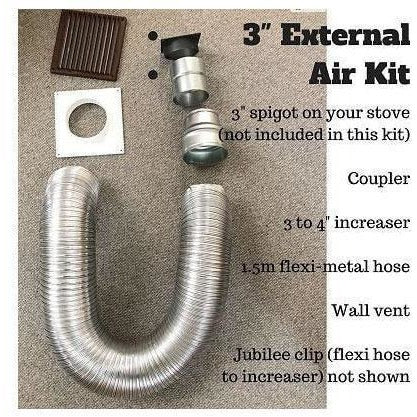 Room sealing air kit Ivar models (STOVE CONNECTION ONLY, NO PIPE OR WALL FITTINGS) - Stove Fitter's Warehouse