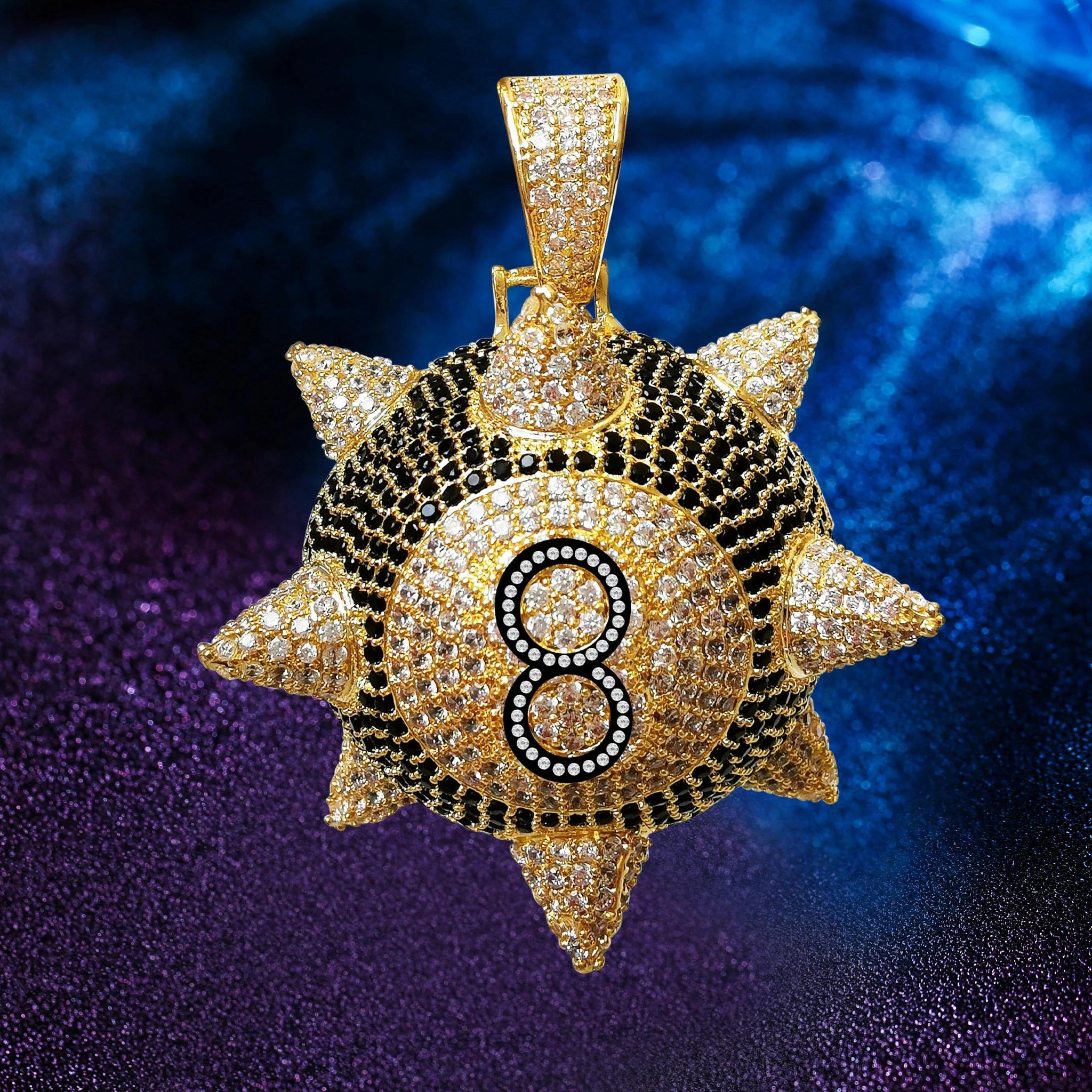 Trippie Spiked 8-Ball Pendant
