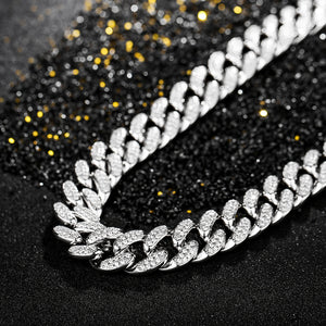 18k Lab Diamond Miami Cuban Necklace