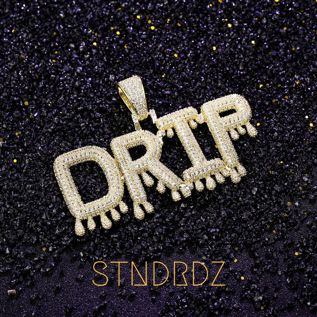 Custom Dripping Letters Pendant - (Design Your Own)