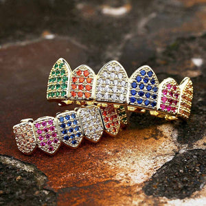 18k Lab Diamond Rainbow Grill Set - stndrdz