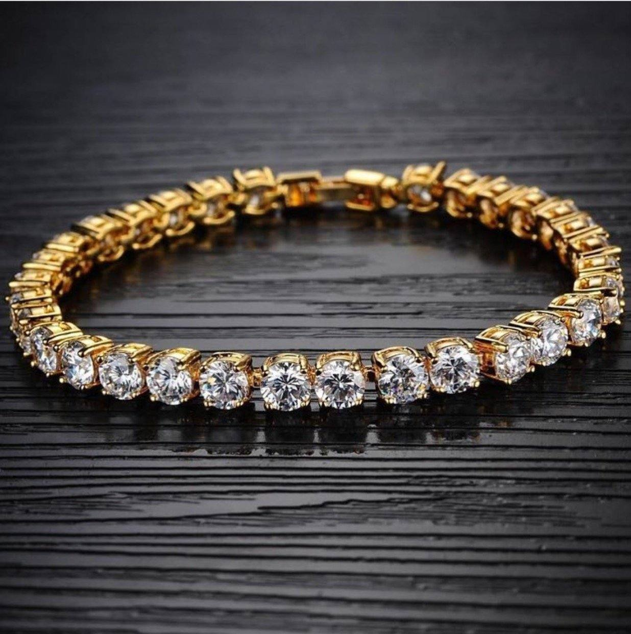 14k Single Row CZ Bracelet - stndrdz