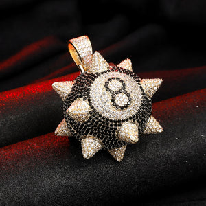 Spiked 8-Ball Pendant