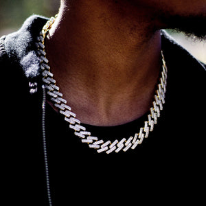 Diamond Prong Cuban Link Choker (18mm)