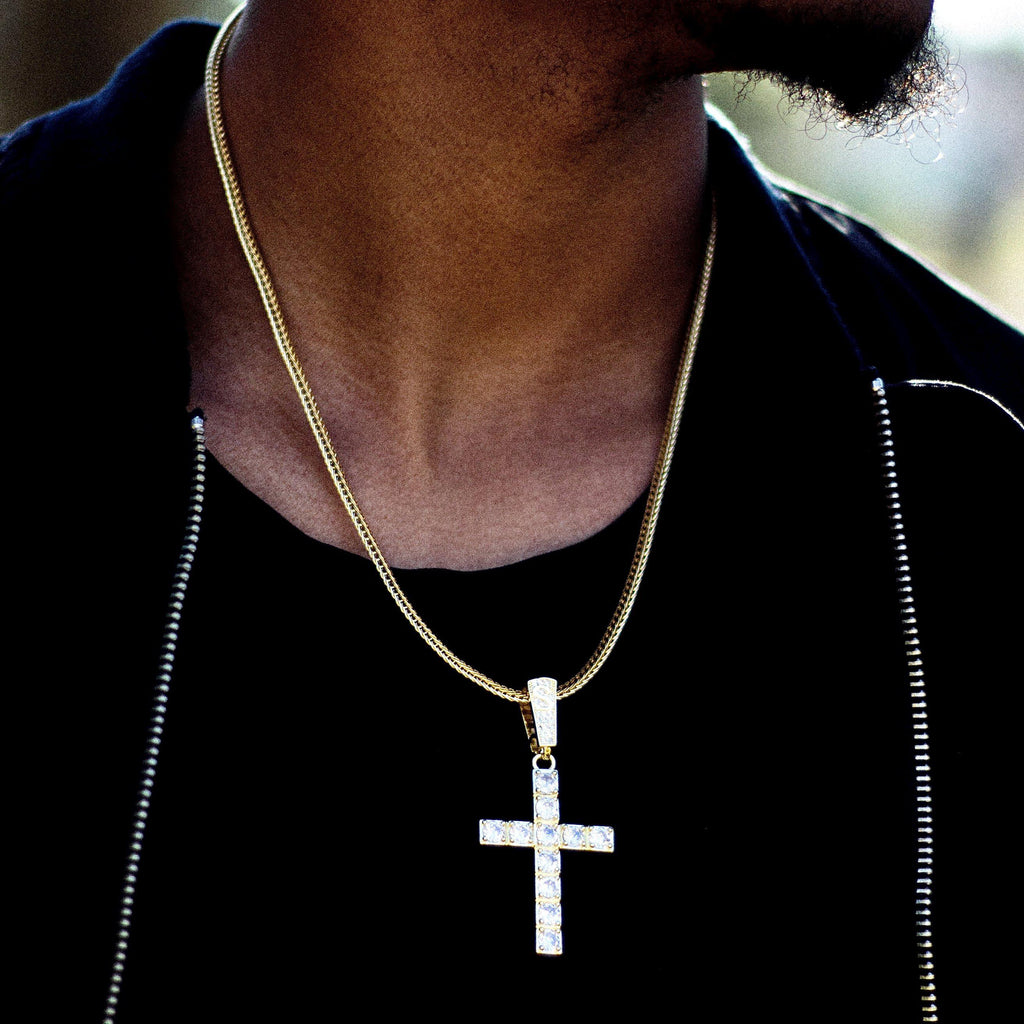 Iced Cross Pendant