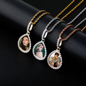 Teardrop Custom Photo Pendant