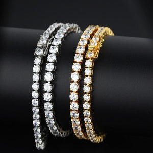 14k Single Row CZ Bracelet