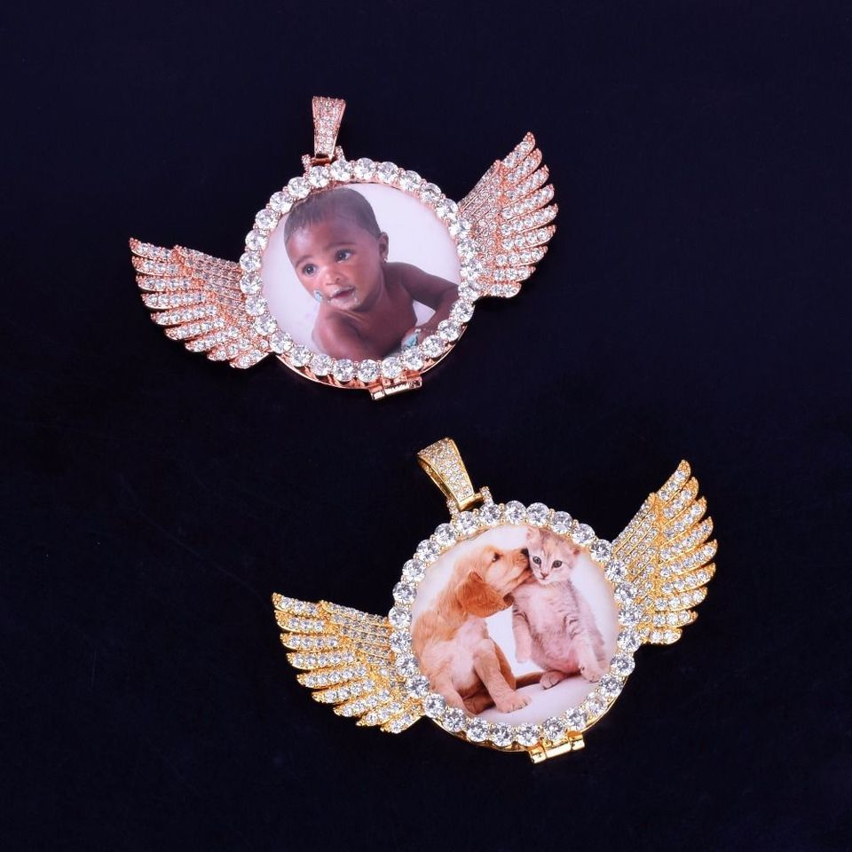 Custom Winged Photo Pendant