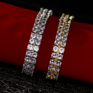 double row cz bracelet