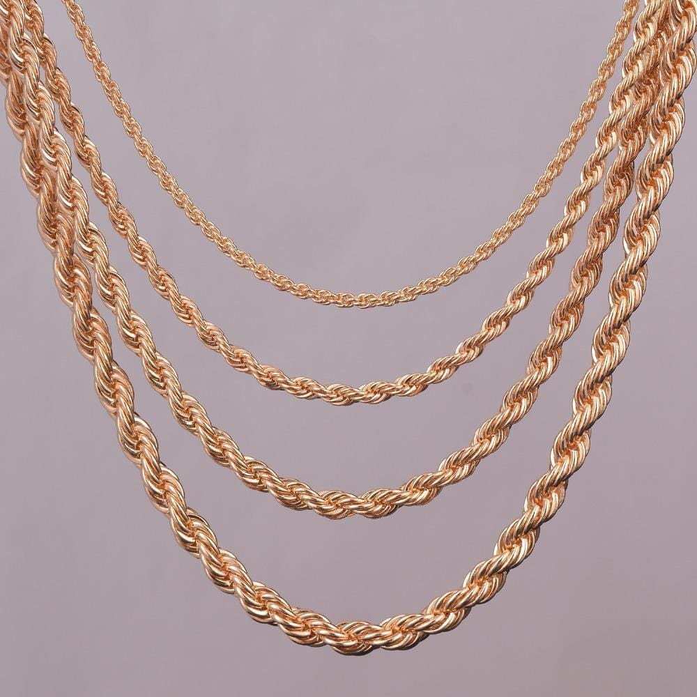 Gold Chains For Men Cuban Link Choker Necklace Tennis