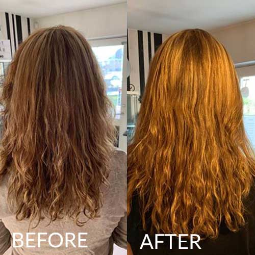 hairlust hair gummies before and after image