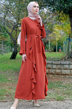 Abaci Casual Brick Maxi Dress