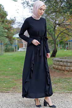 Abaci Casual Black Maxi Dress
