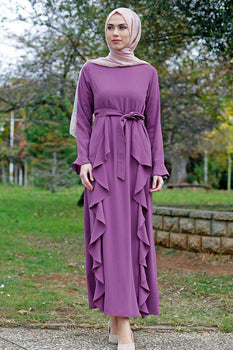 Abaci Casual Lilac Maxi Dress
