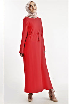 Abaci Beaded Sleeve Ruby Maxi Dress