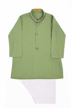 Mehndi Green Kameez Shalwar - J. Festive Infants