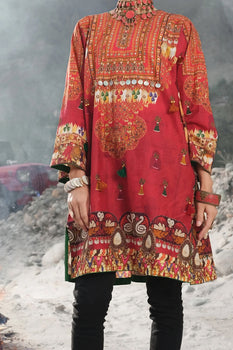 Red Cambric Tunic (1 Piece) - Almirah