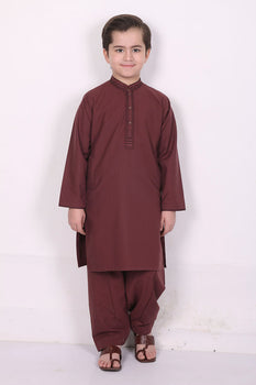 Burgundy Shalwar Kameez - Eden Robe Boys Winter Collection