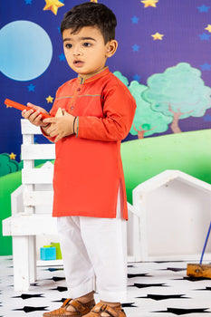 Red Kameez Shalwar - J. Festive Infants