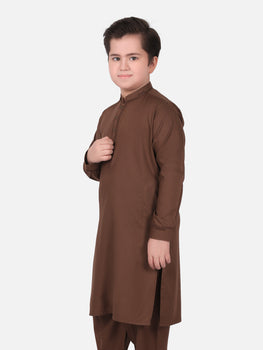 Brown Shalwar Kameez - Eden Robe