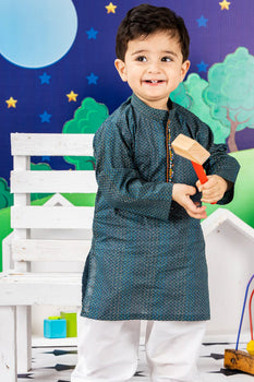 Sea Green Kameez Shalwar - J. Festive Infants