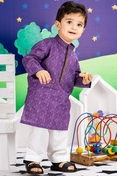 Purple Kameez Shalwar - J. Festive Infants