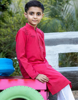 Red Boys Kurta- J. Junaid Jamshed Winter