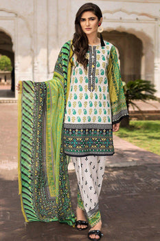 Royal Stitches (3 Piece Cream Suit) - Limelight Lawn Collection