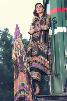 Lush Coal - Motifz Amal Linen Collection