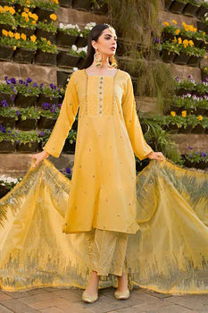 3 PC Unstitched Lawn Suit FE-246 - Gul Ahmed